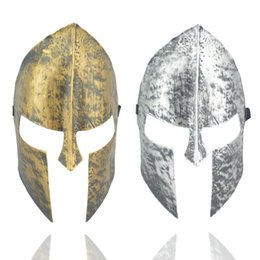 film heroes Promo Codes - Halloween Costumes Immortal Mask Gold Silver Film Sparta Retro Warrior Masquerade Knight Hero Masked Ball Supplies 2 77jd ii