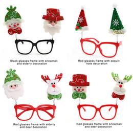 2019 quadros de óculos de natal 10 PÇS / LOTE Moda Infantil Óculos Crianças Adulto Inovador Óculos de Armação Presentes de Natal Dos Desenhos Animados com Boneco de neve Papai Noel Xmas Decoração quadros de óculos de natal barato