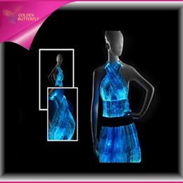 f389932ce6f 2019 vêtements en fibre optique LED Vêtements Lumineux Sexy Jupe Fibre Top  Vêtements 2017 Conception Unique
