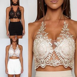 386107a1a36fa Women Sexy Criss Cross Caged Strappy Stash Crop Top Lace-Trimmed Bralette  Bustier Padded Camis