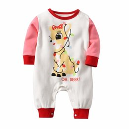 3d5345d1c74b Autumn Winter Newborn Baby Girls Jumpsuit Christmas elk pajamas Thickening  Butterfly Shape Christmas baby Girls onesies romper Y18102907