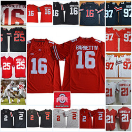 Wholesale Campbell S - Mens Ohio State Buckeyes J.T. Barrett IV College Football Jerseys Parris Campbell JR. J. K. Dobbins Mike Weber Nick Bosa Buckeyes Jersey