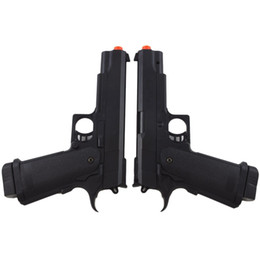 Wholesale Plastic Hand Model - 2 X M1911 FULL SIZE SPRING AIRSOFT HAND GUN PISTOL 6mm BBs BB Black