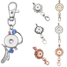 6 Arten Großhandel Verschluss Keychain Gold 18K Lanyard Abzeichen Arbeit Dokumente Chunks Knopf DIY Art und Weise Schmuck von Fabrikanten