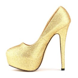Wholesale Red Star Pump - Stars The same paragraph women Shoes Sexy Nightclubs Thin High heels Fashion Shiny single Shoes Party Banquet Bridal Wedding shoes
