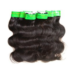 """Wholesale Natural India Hair - Wholesale 7A India Virgin Hair Product Indian Remy Hair Body Wave 40Packs 2Kg Lot Unprocessed Human Hair Weaving Color1B 8""""~26"""" Best Quality"""