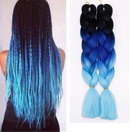 Wholesale jumbo braid hair colors - Z&F Kanekalon Fashion Braiding Hair Jumbo Braids Wefts Ombre Hair Bulk Synthetic Hair Extension Colors 24Inch 100G