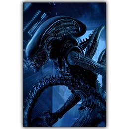Wholesale Posters Games - Aliens VS Predator Skiing Games Fi Alien Movies TV Movie Film Posters Poster Printing Silk Fabric DY474