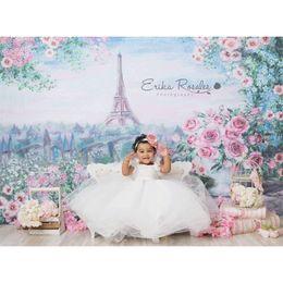 Fondo de castillo impreso online-EHOFOTO Vinilo Telón de fondo floral Aceite Impreso Torre Eiffel Rosa Rosa Castillo europeo Niños Fondos Foto Pro MEHOFOTO Vin ...