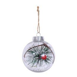Romantique design Décorations de Noël Boule transparente peut ouvrir Noël en plastique clair Babiole Ornement du cadeau Présent ? partir de fabricateur