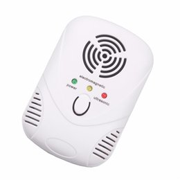 Wholesale Ccd Video Cameras - Ultrasonic Electronic Indoor Anti Mosquito Rat Pest Bug Control Repeller Safety Practical Summer Houseware US EU Plug Wholesale