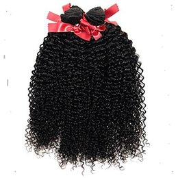 Styles de tissage de cheveux bouclés en Ligne-Nouveau style couleur noire Kinky Curly Hair Weave 100% Extensions de cheveux humains 6a Non Transformés Extensions de Cheveux Vierges 100g / 1 pcs