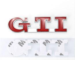 Polo gti pegatinas online-Coche que labra auto etiquetas engomadas del coche calcomanía de la placa del tronco trasero decorativo para VW POLO GOLF MK3 MK4 MK5 GTI etiqueta engomada del emblema EEA207
