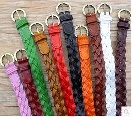 Wholesale Ladies Thin Skirts - DKBLINGS multicolors 2.2x105cm women dress thin belt braided belt for women ladies skirt casual wear decoration