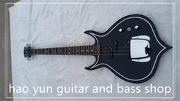Wholesale Diamond Guitar - Gene Simmons Punisher 2 Electric Bass Guitar With Mahogany Body Maple Neck Rosewood Fingerboard Abalone Diamond Inlay 24 Fret