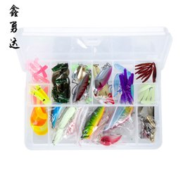 Wholesale Japan Wholesale Fishing Hooks - wholesale 100pcs 335g Fishing Lure fisKits Hard ARTIFICIAL LURES MINNOW FISHING Hooks Set Japan Steel Balls Blade Fish Bait Float