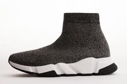Argentina de alta calidad de la venta caliente mujeres originales hombres calcetines Balenciaga zapatillas de deporte negro blanco rojo velocidad entrenador zapatillas de deporte mejores botas zapatos casuales cheap black high boots for girls Suministro