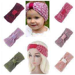 Wholesale Crochet Head Wrap Wholesale - KIDS Knit Headband Crochet Knot Turban Hairband Baby Girl Head Wrap Ears Warmer Headwear Girls Headbands Warm Headwrap KKA4042