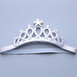 Canada Élastiques filles creusent couronne avec Crystal Hair Baby Bandeau Accessoires cheveux cheap hollowed out headband Offre