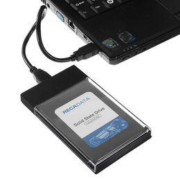 2tb 2,5 hdd Rabatt 2.5 Zoll USB 3.0 zu SATA Festplattenlaufwerk-Werkzeug-freiem transparentem HDD SSD-Gehäuse 5 Gbps Unterstützung 2TB UASP Protokoll-Kasten