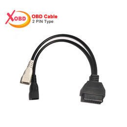 Wholesale Diagnostic Cables Vag - VAG 2Pin 2X2 to 16 Pin OBD2 Interface Adapter ELM327 Convert Cable for Old AU---DI Car Scanner Diagnostic Connector