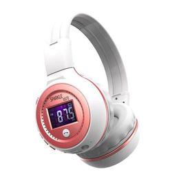Wholesale wireless earphones for radio - Hot sale ZEALOT B19 Bluetooth Headphones Wireless Stereo Earphone Headphone with Mic Headsets Micro-SD Card Slot FM Radio For Phone & PC