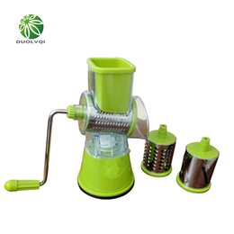 Wholesale Vegetable Cuts - Duolvqi Multifunctional Vegetables Cutter Stainless Steel And Abs Drum Cut Vegetable Potato Shredded Slices Useful Kitchen Tools