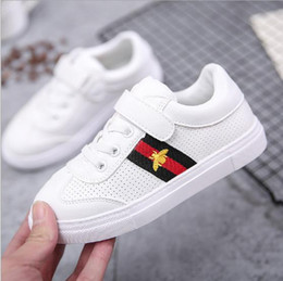 Wholesale little black boys - Best-selling new 2018 spring winter girls little white shoes student sports shoes boys net shoes 21-37cm
