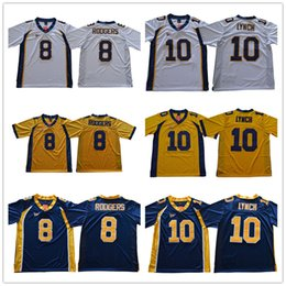 Wholesale aaron rodgers jerseys - Throwback 8 Aaron Rodgers 10 Marshawn Lynch California Golden Bears College Football Jerseys Stitched Yellow White Blue Jersey Shirts