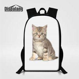 Kids Animal Cat Printing Backpack Designer School Bookbags For Teenage Girls  High Quality Bagpacks Women Shoulder Bag Back Pack New Knapsack discount  animal ... 12a1d748279aa