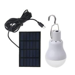 Luci a tenda a energia solare online-Solar Powered Led Light Bulb Portable Led lampada solare Spotlight con 0.8w pannello solare per l'escursione esterna tenda da campeggio Pesca illuminazione