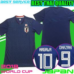 Wholesale Japanese Uniform Blue - 2018 world cup Japan Soccer Jersey 2018 Japan Home blue soccer Shirt #10 KAGAWA #9 OKAZAKI HONDA Japanese best thai football shirt uniforms