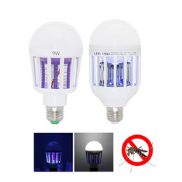 Wholesale insect kill - Mosquito Killer LED Bulb 9W 15W LED Bug Zapper Lamp E27 Insect Mosquito Repeller Night Lighting Killing Fly Bug Night Light 110V 220V