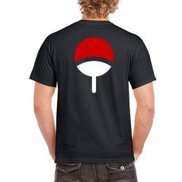 2017 marke T-shirt Homme Tees Uchiha Clan Symbol Wappen Anime Itachi Naruto Sasuke Cosplay T-shirt Schwarz von Fabrikanten