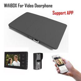 Видеокамера 3g онлайн-Беспроводной Wi-Fi IP BOX для видео домофон дверной звонок здание домофон управления 3G 4G Android iPhone ipad приложение на смартфон