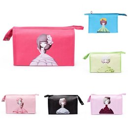 55f76f25872c Fashion Cosmetic Bag Women PU Leather Long Wallet Girl Print Clutch Makeup  Bags Travel Casual Accessories