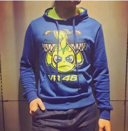 Wholesale Breathable Fishing Jacket - Moto GP VR 46 Hoodies Sweatshirts Small fish and motorcycle clothing printed cotton sweater casual jacket