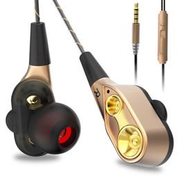 Unidad doble Drive In Ear earphone Bass Subwoofer Auriculares estéreo con micrófono Deporte Running auriculares para teléfono Xiaomi desde fabricantes