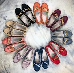 Wholesale fisherman rubber boots - 10 Colors Top Quality Women's Casual Shoes Women Shoes Spring Summer Casual Shoes Woman Genuine Leather Boots Womens fisherman single shoe