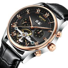 20f34adbe6f Venta caliente KINYUED Jin Yueda reloj AAA reloj automático suizo  tourbillon hueco automático hombres envío gratis
