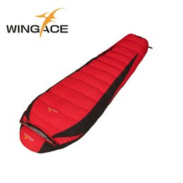 Wholesale Camping Mummy Sleeping Bag - Fill 1200G 1500G 2000G 2500G Down Adult Sleeping Bag Winter Tourists Mountaineering Outdoor Camping Duck Down Sleeping Bag
