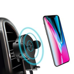 Wholesale Mini Usb Car Charge - QI Car Wireless Charger, ROCK Phone Stand for iPhone 8 X Samsung Galaxy S8 Note 8 Plus 5W Fast Wireless Charging 5W