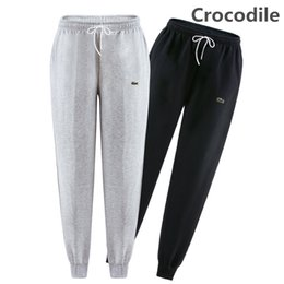Wholesale New Fashion Military Pant - High quality New men pants Fitness Crocodile Embroidery Casual Elastic Pants bodybuilding clothing casual military sweatpants joggers pants