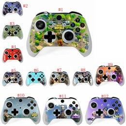 Wholesale kid s stickers - 12 color Game Fortnite Battle Royal XBOX ONE S X Skin Sticker For PlayStation hand Controllers Decal Vinyl Kids novelty games Gift LJJM262