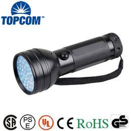 Wholesale Uv Detectors - TOPCOM 51 UV Ultraviolet Flashlight 395 nM LED Handheld Blacklight Perfect Urine and Bed Bug Detector,Scorpion Hunting Light