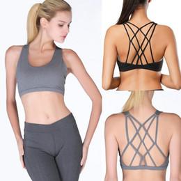 4cf6e81d92 CALOFE Woman s Sport Bras Female Gym Fitness Running Bra Woman s Cross  Bandage Sport Bra Gathered Fitness 2018 Female Underwear