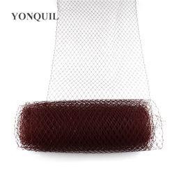 Brown Birdcage Veil 45 CM de ancho para mujeres Velos de malla material de redes de novia fascinador DIY Accesorios para el cabello 10 yardas / lote 2018 Nueva llegada desde fabricantes