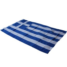 Bandiere greche online-3x5ft bandiera greca greca ellenica State Country Banner - Grecia National Flag Banner Hanging Indoor / Outdood Banner Yard Decorazione casa