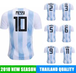 Wholesale football nation - 2018 Argentina Soccer Jersey MESSI cup AGUERO DI MARIA MASCHERANO HIGUAIN calcio fútbol football NATION TEAM national world russia 19