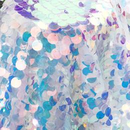 2019 sfondo di tessuto di natale Iridescent Paillettes Party Tovaglia Glitter Tessuto Fondali per Feste Natalizie Baby Shower Mermaid Unicorno Decorazioni fai da te sconti sfondo di tessuto di natale